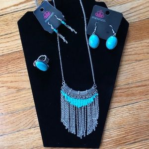 Paparazzi Turquoise Suite of Jewelry